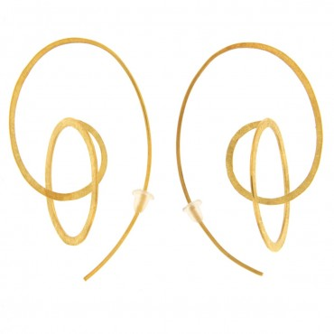 Brushed gold earrings