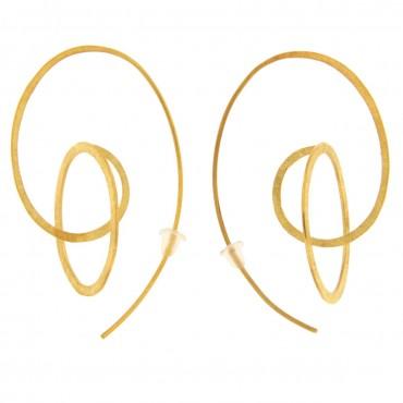 Orecchini oro graffiato