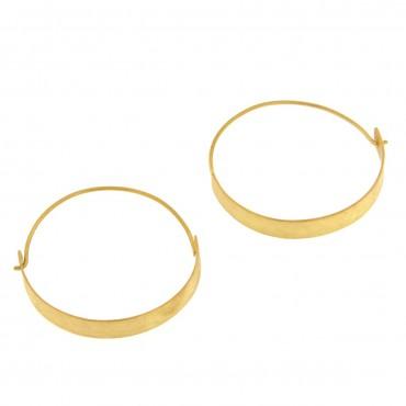 Orecchini a cerchio in oro graffiato