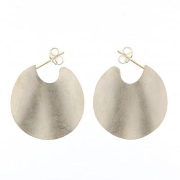 Orecchini argento graffiato