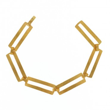 Bracciale in oro graffiato