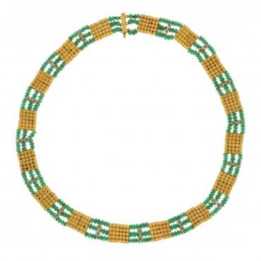 Collana oro e smeraldi