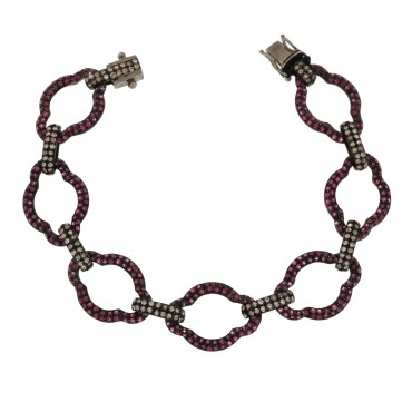 Rubies and diamonds bracelet