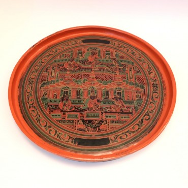 Burmese lacquer plate