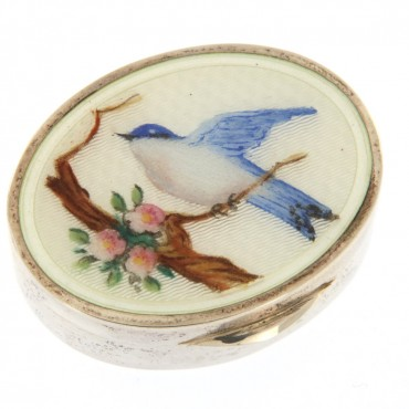 silver enamelled snuff box
