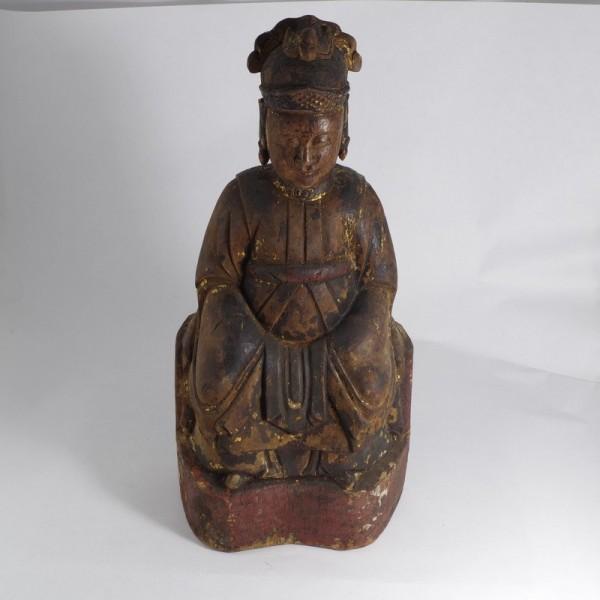 Statuetta legno