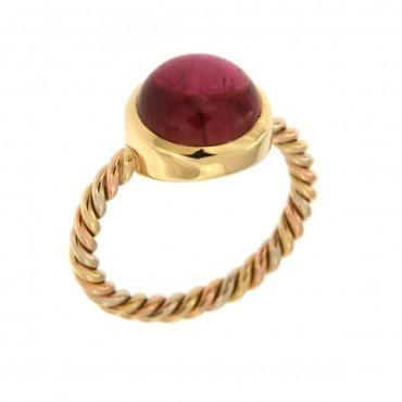 anello oro e tormalina
