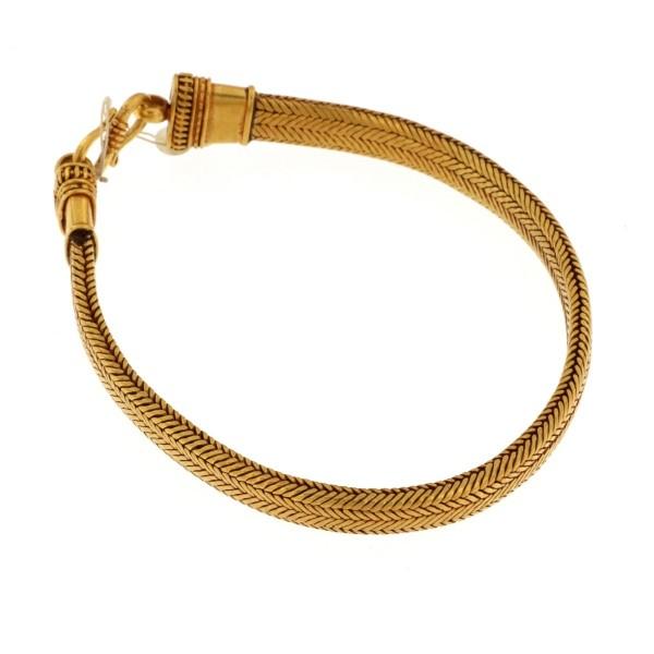 Snake gold bracelet