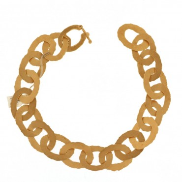 Brushed  yellow gold bracelet