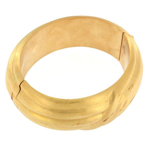 Bracciale in oro spazzolato