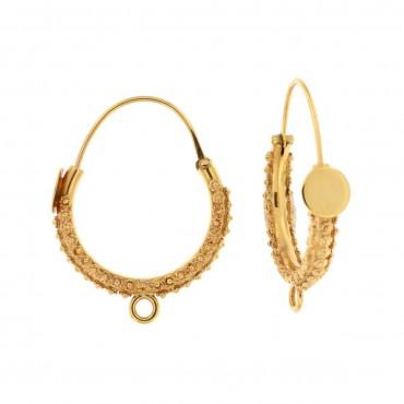 Traditional Valtellina gold earrings