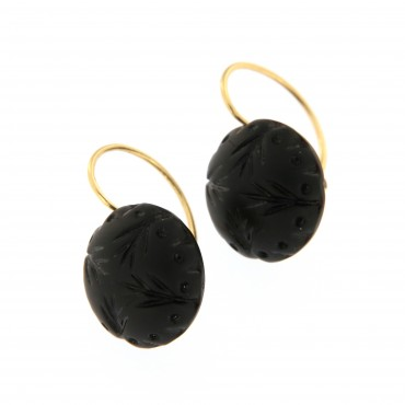 gold mourning earrings