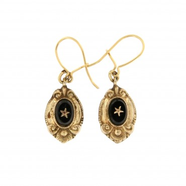 mourning victorian earrings