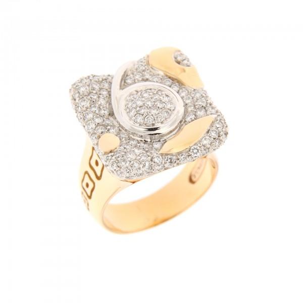 Anello LA NOUVELLE BAGUE vintage, oro e diamanti