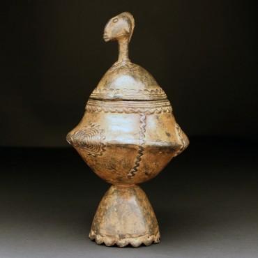 dogon brass pot