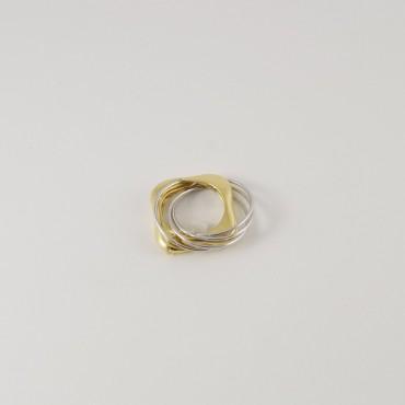 Anello La Nouvelle Bague vintage, oro giallo e bianco 18 Kt