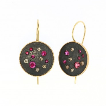 rubies and diamonds earrings