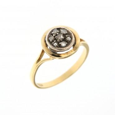anello oro e diamanti, inizi 'Novecento