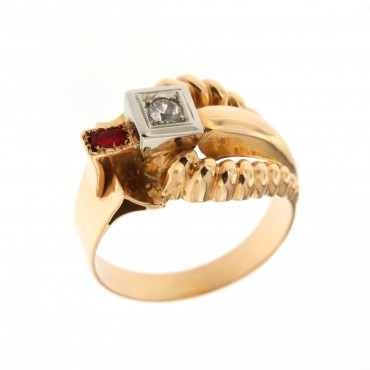anello oro anni '40