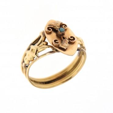 anello oro antico, inizi 'novecento