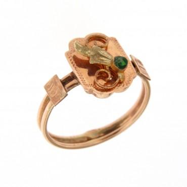 anello oro rosé, inizi 'novecento
