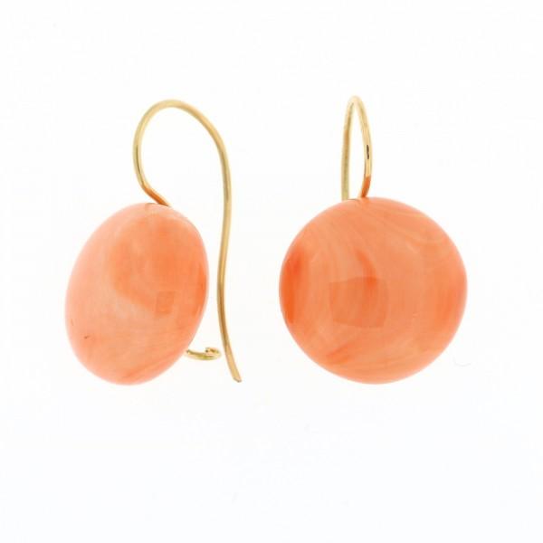 rose coral earrings