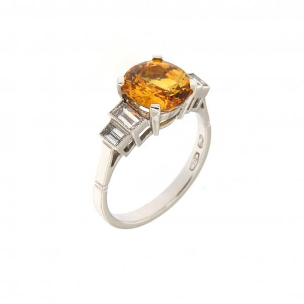 anello zaffiro giallo