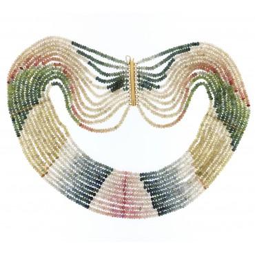 collana corindoni 11 fili