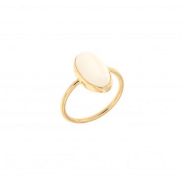 anello oro e pietra di luna