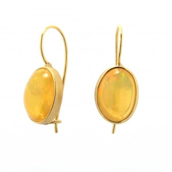 Orecchini oro e opali