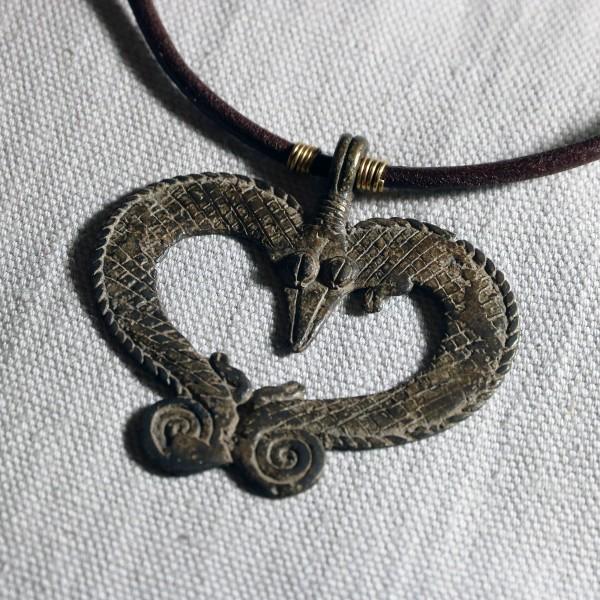 Pendente dogon in bronzo