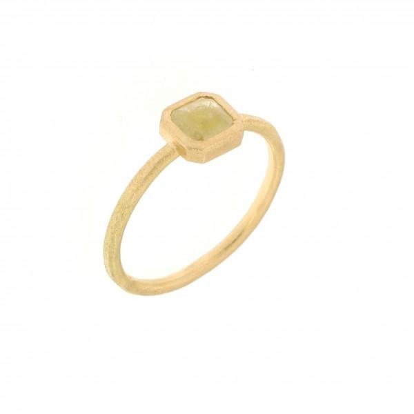 anello oro giallo e diamante