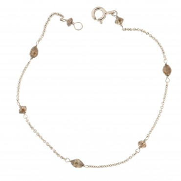 bracciale oro bianco e diamanti brown