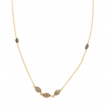 collana oro giallo e diamanti brown