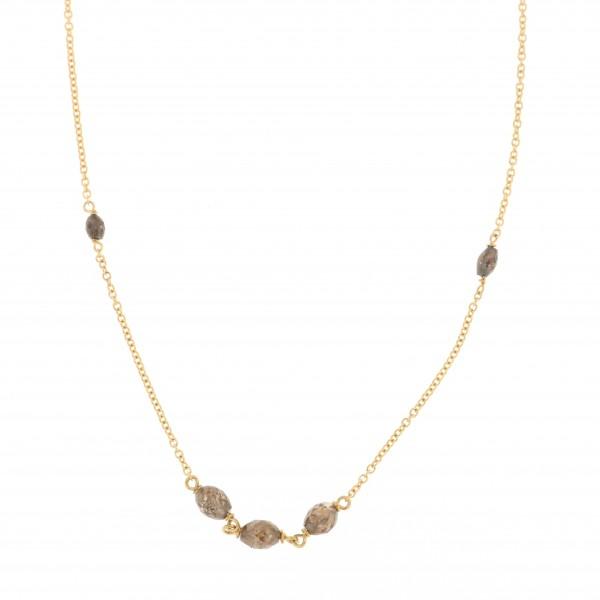 collana oro giallo e diamanti brown